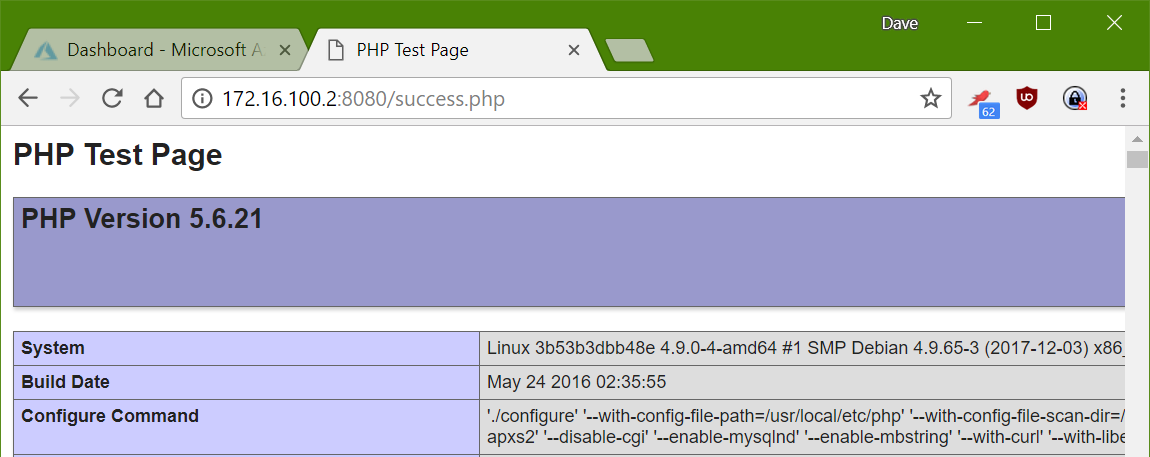 PHP test page